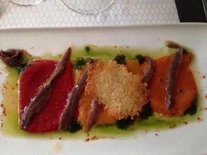 Beaucoup fish - Gegrilde paprika en ansjovis